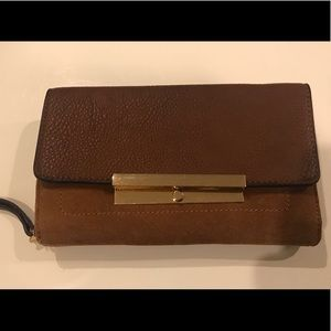 Handbags - Brand new brown suede and leather wallet